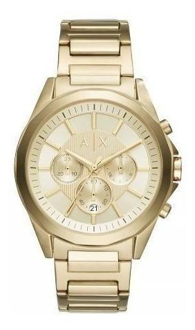 Relógio Armani Dourado Masculino À Prova D