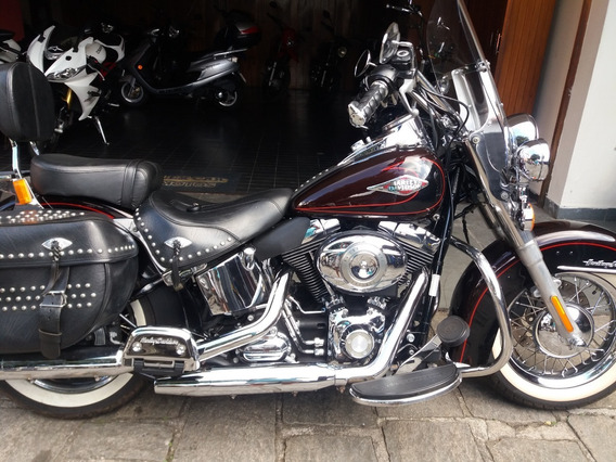 Harley Davidson Heritage Softail Classic Flstc Preta 2011