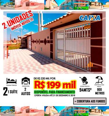 Casa Em Itanhaém Lado Praia R$ 199 Mil , Mcmv Ref: C