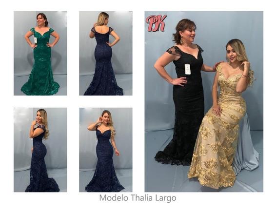 Vestido De Fiesta Modelo Thalia Largo
