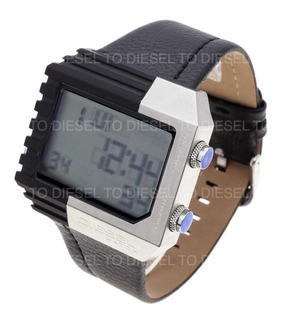 Reloj Diesel Hombre 6409 013 Digital Acero Cuero Sumergible