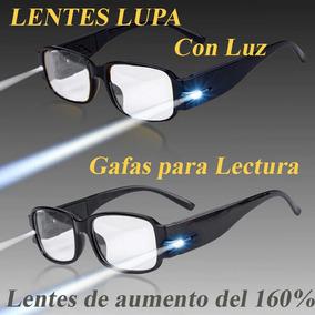 4ac984eeec 2 Gafas Con Luz Tipo Lupa P/lectura Lentes De Aumento 160%