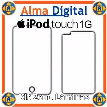 Kit 2 Laminas Protector De Pantalla Y Anverso iPod Touch 1g