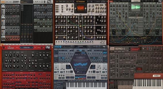 U-he Synth Bundle Zebra 2,diva ,hive 2, Re-pro Etc..