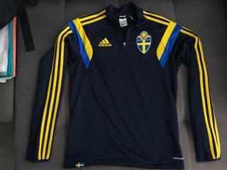 Blusa Oficial Da adidas Da Seleção Da Suécia - Raridade