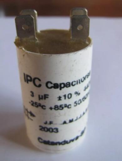 Capacitor Partida 3uf 440vac P/ Diversos Motores Ipc