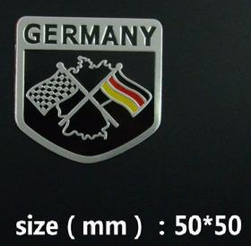 2 Adesivo Emblema Bandeira Alemanha Audi Bmw Jetta Passat