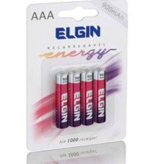 Pilhas Recarregável Aaa (palito) Elgin 4 Unidades