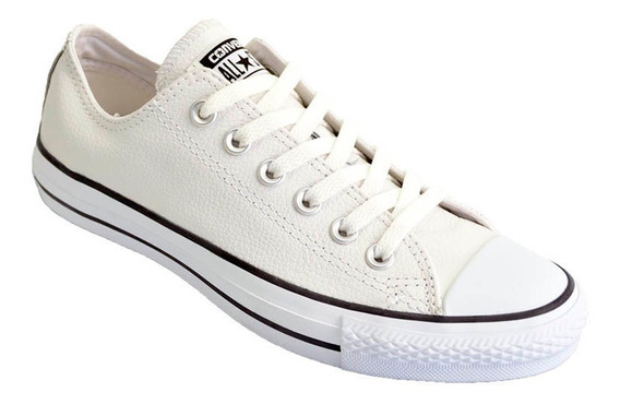 Zapatilla Converse All Star European Low Cuero Moda Blanco