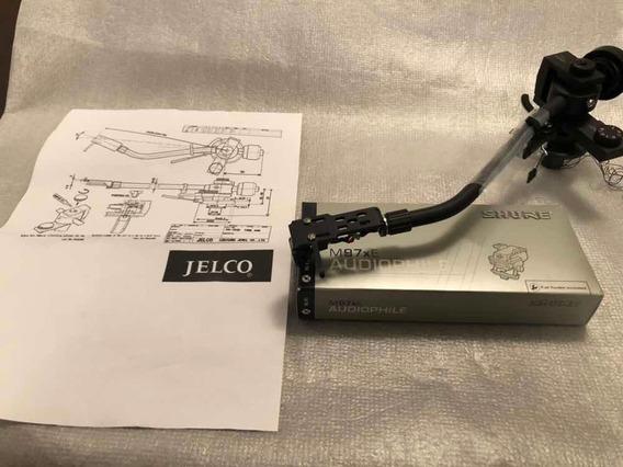 Braço Toca Discos Jelco Sa 370 H Cápsula Shure M97xe