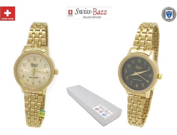 Reloj Dama Suizo Contra Agua Acero Inoxidable Swiss Elegante