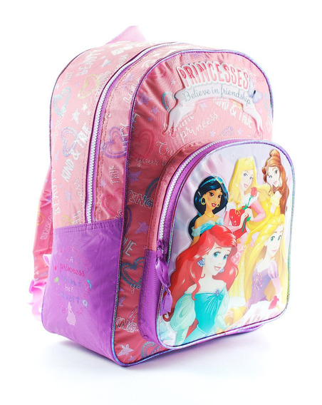 Mochila Espalda Grande 16pulg Disney Princesas Mundo Team