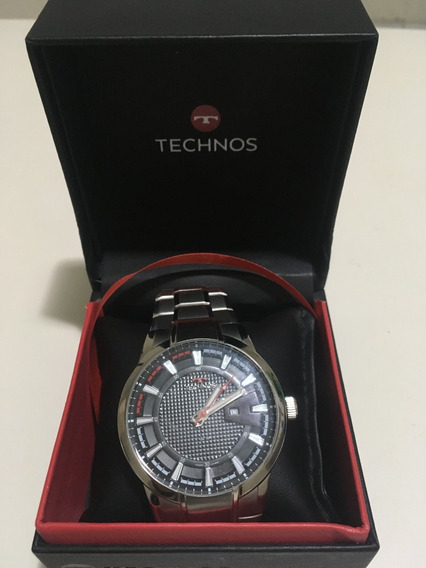 Relógio Technos Masculino Prata/preto Barato
