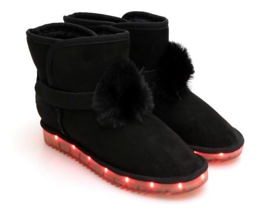 Bota 47street Gamuza Base Con Luces Led Recargable