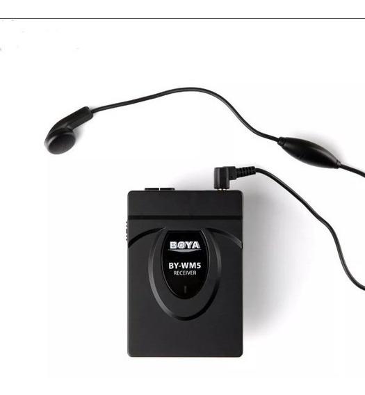Microfone De Lapela Boya By Wm5 Sem Fio (nfe)