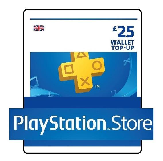 Psn Card 25 Libras Cartão Playstation Network Uk