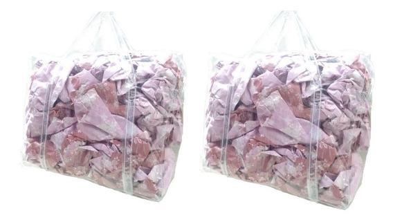 2 Bolsa Sacola \jumbo 100% Pvc Cristal Transparente Grande