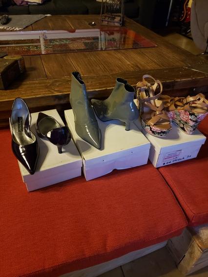 Lote De Zapatos Talle 36 Nuevos Precio X Los 3 Pares