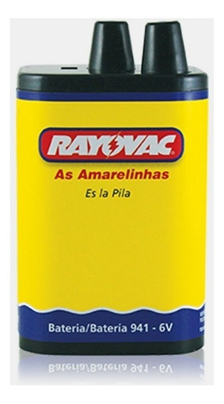 Bateria 941 6v 5ah Rayovac Lanterna 4r25ex Rt4r25-01 Novo