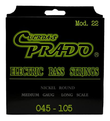 Imagen 1 de 3 de Cuerdas Para Bajo Eléctrico Acero Prado Nueva Imagen
