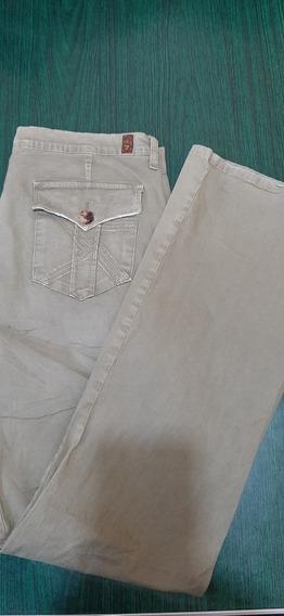 Pantalon 7 For All Seventing # 53 Color Verde