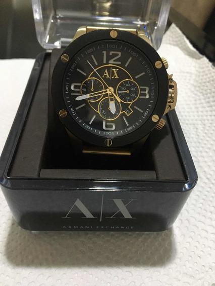 Relógio Armani Exchange Em Aço Dourado