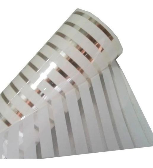 Adesivo Jateado Listrado Persiana Grosso Box Vidro 2mx1,50m