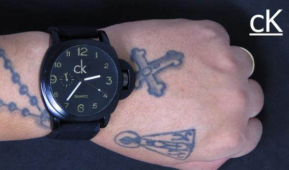Relógio Ck Johnnie Walker Black Couro Barato Original C471