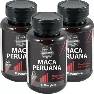 3x Maca Peruana 500mg 180 Cápsulas Pronta Entrega Libido
