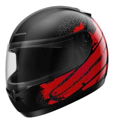Capacete Honda Fechado Hfs Dreamer Preto/vermelho