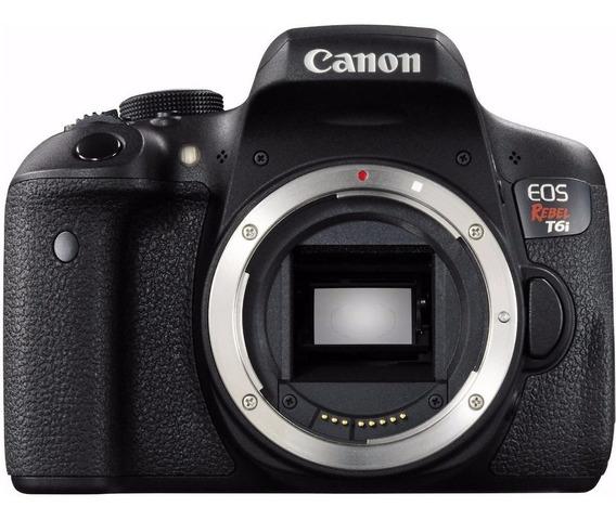 Canon Eos Rebel T6i (corpo) - 24mp - Em 12x Sem Juros !!!