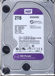 Wd Disco Duro Western Digital Purple Wd20purz, 2 Tb, Sata 6.
