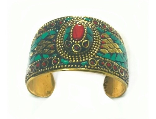 Bracelete Tibetano Pedras Turquesa Tibetana