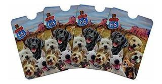 Route 66 Southwest Dogs Selfie Lab Retriever Westie Tarjeta
