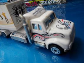 02 Caminhões Truck Carreta P/ Coleção Modern City