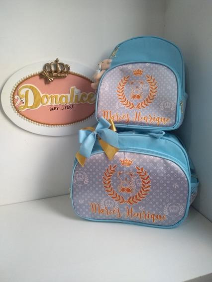 Kit Bolsas Maternidade Com 1 Bolsa G E 1 Mochila De Passeio