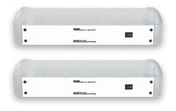 Kit De 2 Lamparas Maxiled De Emergencia Sola Basic 600 Lumen