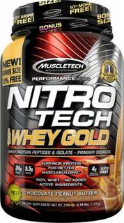 Nitro Tech 100 Whey Gold (1020g) - Chocolate Com Amendoim