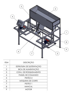 Projeto E Maquina De Corte E Rosqueamento