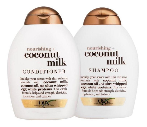 Kit Ogx Coconut Milk 250ml: 1 Condicionador + 1 Shampoo