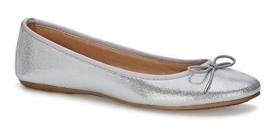 Zapato Flat Ballerina Andrea 2590844 Plata Plateado