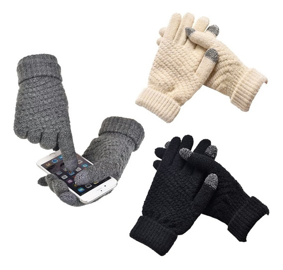 Mayoreo Guantes Invernal Touch Doce Piezas
