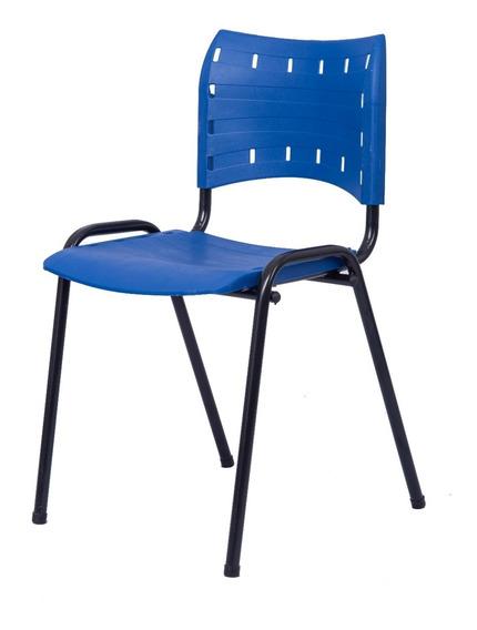 Cadeira Iso Azul Plástica