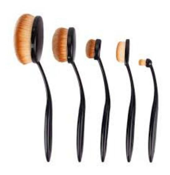 Set De Brochas Cepillo Oval De Maquillaje X 5 Unidades