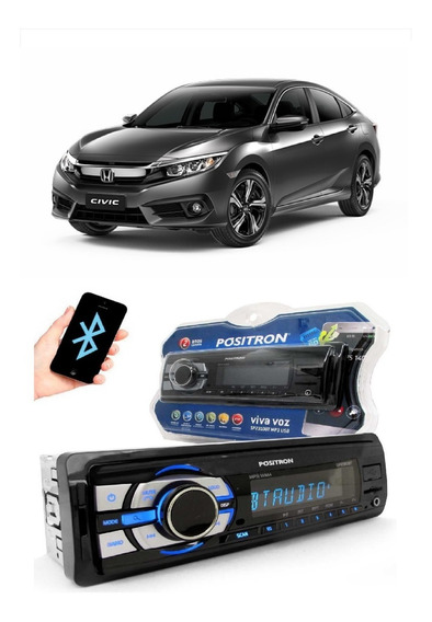 Radio Mp3 Positron Sp2310 Bt Sd Usb Viva Voz Toyota Civic