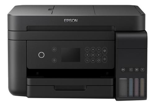 Impressora a cor Epson EcoTank L6171 com wifi preta 110V