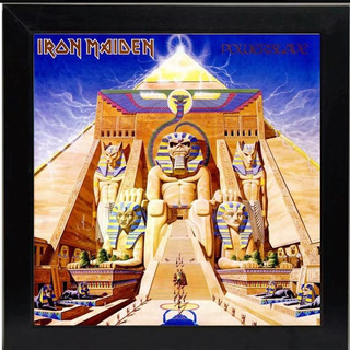 Lp Iron Maiden Powerslave Quadro Capa Do Disco 31x31 Cm
