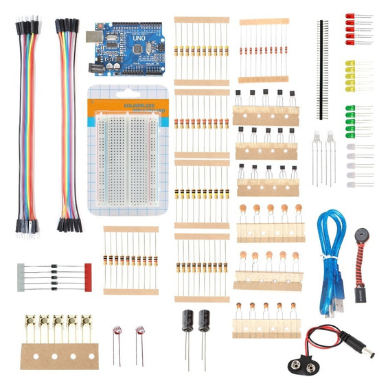 Kit Arduino Uno R3 Starter C/ 150 Itens Protoboard + Brinde