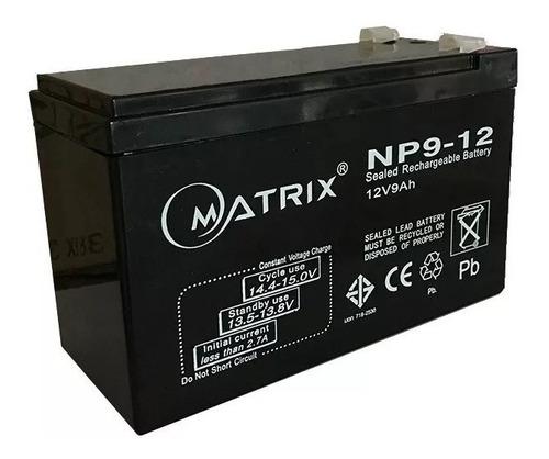Imagen 1 de 1 de Bateria 12v 9ah Matrix Sellada Ups Juguete Alarma Lampara C1