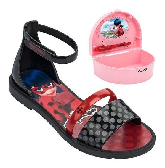 Sandália Infantil Ladybug Porta Segredos
